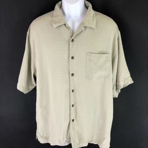 Jamaica Jaxx Men's Button 100% Silk Shirt XL